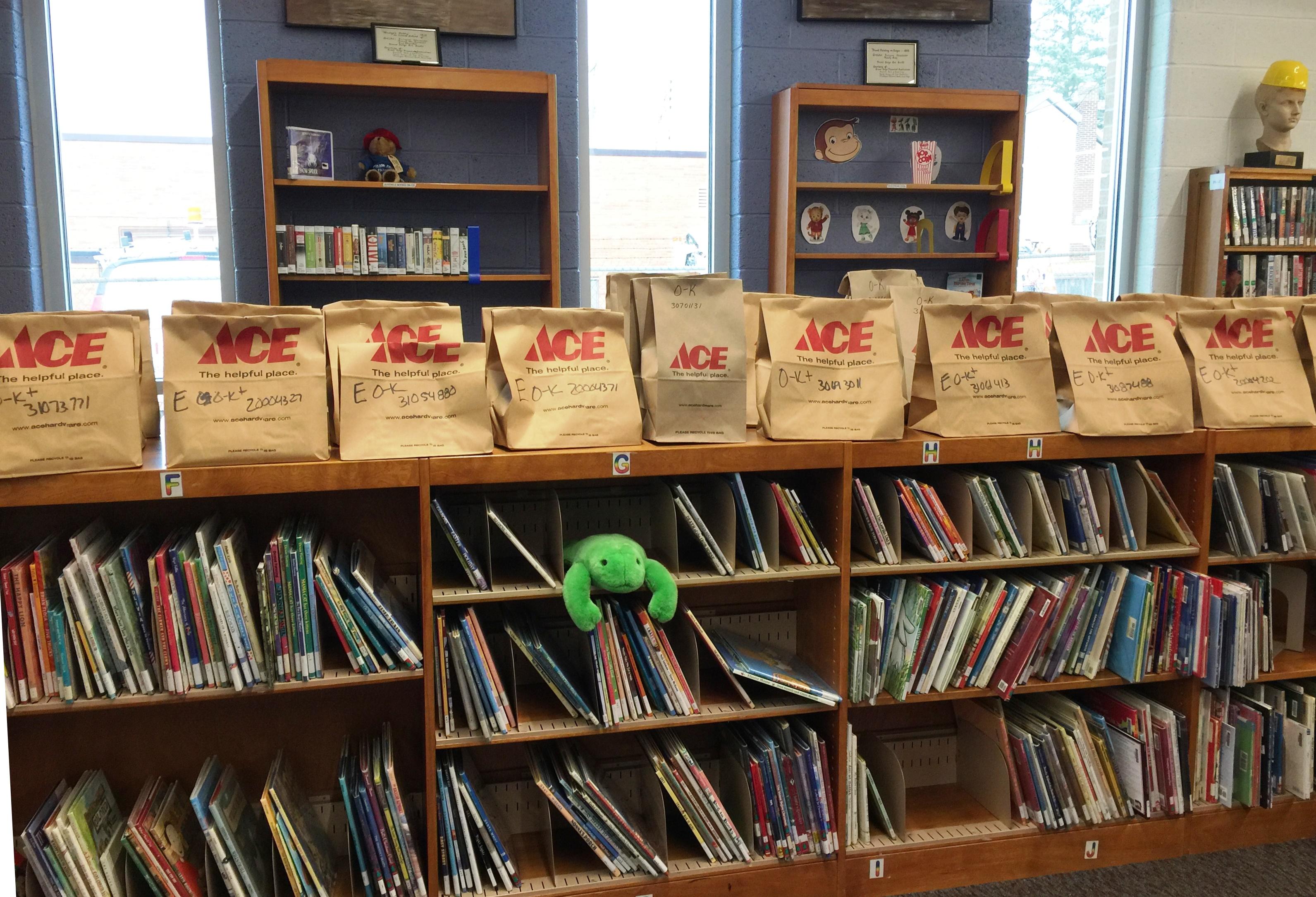 Brown Bag Books display