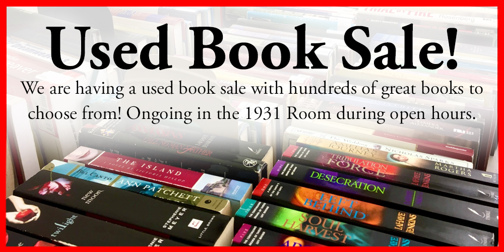 used book sale in 1931 room
