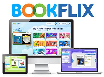 bookflix computer splash screen