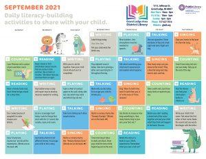 Early Literacy Calendar September 2021