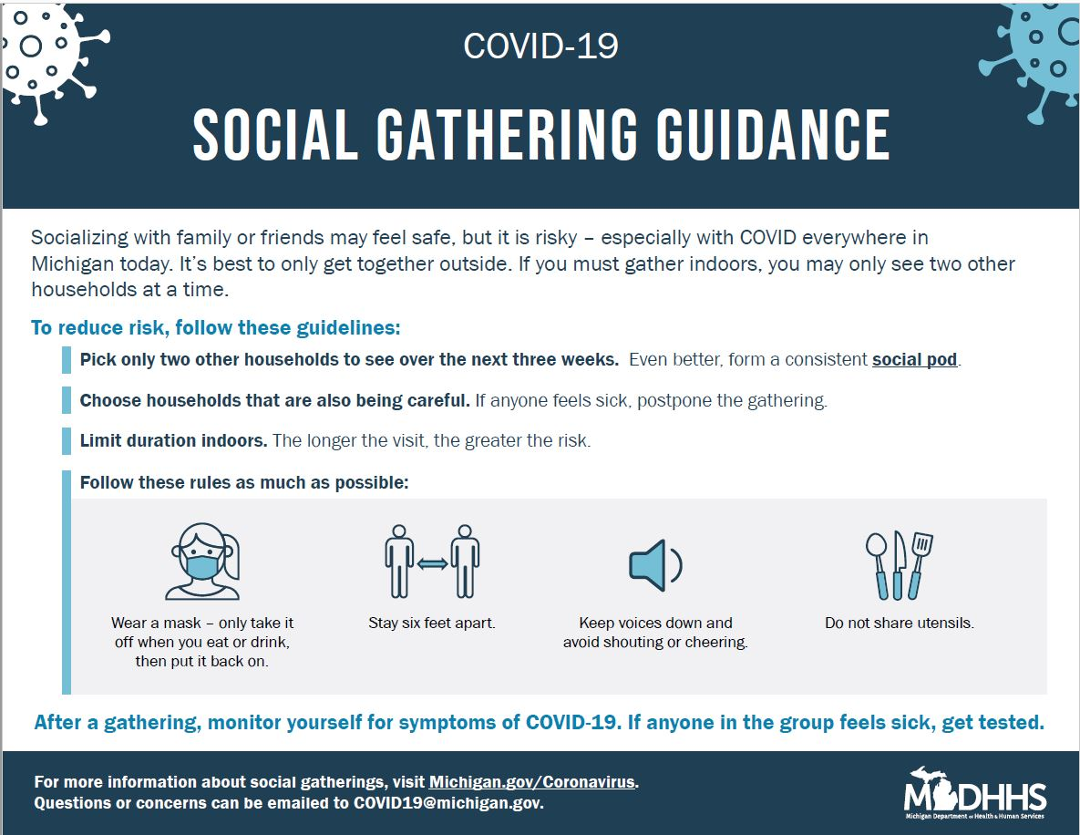 March 2021 social gathering guidance